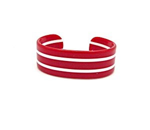 Red and White Striped Cuff (Image1)