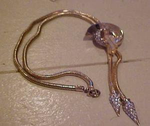 Corocraft lariat style rhinestone necklace (Image1)