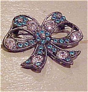 Rhinestone bow pin (Image1)