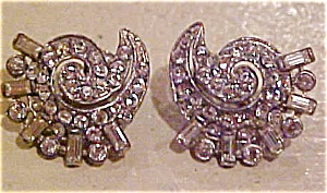 Art deco rhinestone earrings (Image1)
