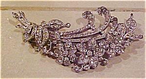 Trifari rhinestone floral bouquet brooch (Image1)