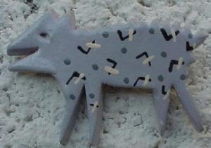 Ceramic dog pin (Image1)