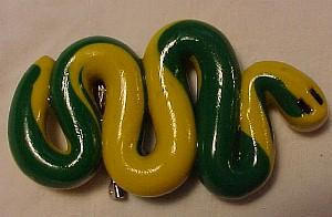 Fimo clay snake pin (Image1)