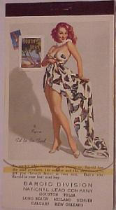 1958 Elvgren pin up notepad entitled Fit to Be Tied (Image1)