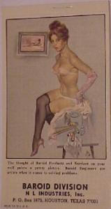 1976 pin up girl calendar notepad for the Baroid Division of NL Industries Inc. (Image1)