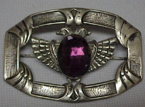 Art Nouveau sash pin w/purple stone (Image1)