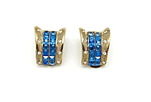 1940s Retro Rhinestone Earrings (Image1)