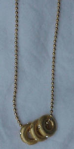 necklace with brushed goldtone charms (Image1)