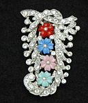 Click here to enlarge image and see more about item 119: Floral dress clip
