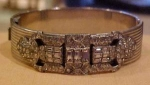 Allco Art deco bangle with rhinestones