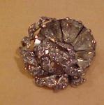 1940's flower pin/pendant rhinestones
