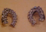 Sterling BB Horseshoe earrings