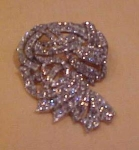 Art Deco rhinestone brooch