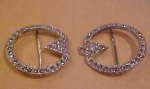 Art Deco rhinestone buckle