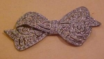 Art Deco rhinestone bow pin