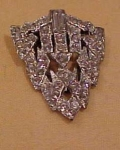 pot metal and rhinestone dress clip