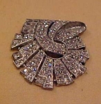 Art Deco dress clip w/rhinestones