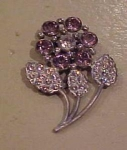 Flower dress clip w/rhinestones