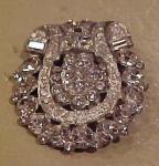 Art Deco rhinestone pin