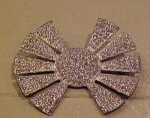 Starburst pot metal rhinestone pin