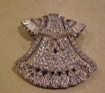 Coro Art Deco Rhinestone dress clip