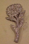 Flower pin with rhinestones