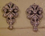 Pair of art deco dress clips
