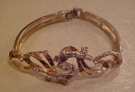 Ledo goldtone and rhinestone bracelet