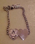 Click here to enlarge image and see more about item b1441: Sterling WW2 Sweetheart ID Bracelet