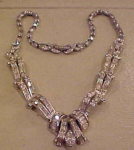 Pennino 1940's rhinestone necklace