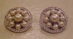 Faux pearl and rhinestone earrings
