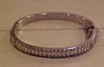 Hinged Rhinestone Bangle w/baguettes