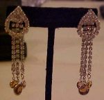 Dangling Rhinestone Earrings crystals