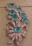 Rhinestone & Pot Metal Flower pin
