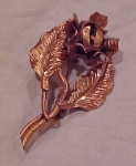 Copper flower pin