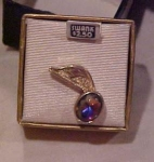 Swank musical note tie tack in original box