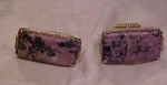 1970's sterling cufflinks with stones