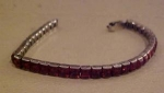 Sterling bracelet with red rhinestones