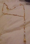 Anne Klein necklace w/faux pearls