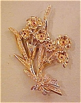 Rhinestone Flower pin with rhinestones