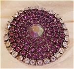 Purple  & AB rhinestone pin