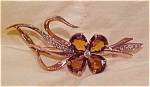 1940's retro sterling vermeil flower pin