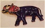 Enameled elephant pin