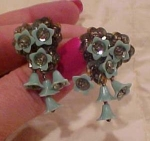 Plastic flower earrings