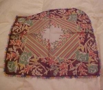 Floral handkerchief w/embroidered edges
