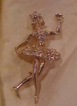 Ballerina pin with rhinestones