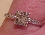 Art Deco sterling rhinestone engagement ring