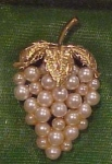 Grape design pin with faux pearls