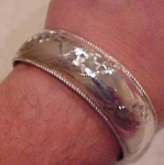 Silver cuff with engraving
