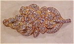 1920's rhinestone flower pin